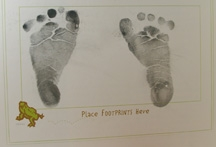 footprints in baby book