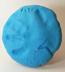 clay handprint craft