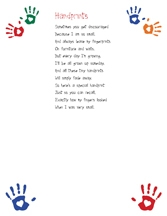 image about Handprint Printable referred to as Handprint Poem with printable obtain Boy or girl Footprints and