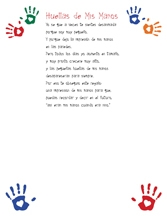 handprint poem in Spanish