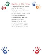 handprint poem in Spanish