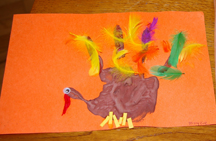 Child handprint turkey
